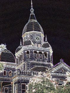 Denton Courthouse, spooky negative Denton Square, Denton Texas, Zak Bagans, Ghosts, Empire State Building, College, School, Places, University