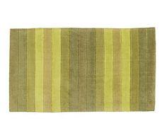 Alfombra de acrílico Degrade, verde - 60x110 cm