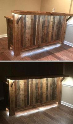 to convert it into a pallet bar. The size and dimension diy bar Pallet Bar With Wine rack Ideas - Diy Bar, Diy Home Bar, Bars For Home, Outdoor Pallet Bar, Wood Pallet Bar, Wooden Pallets, Pallet Bar Plans, Pallet Benches, Pallet Couch