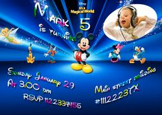 SALE 50 Disney Birthday Invitation  Printable Disney by vitalydi, $5.00