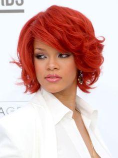Bright Red Hair - Rihanna
