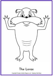 hp eprintcenter: free dr. seuss lorax printables, masks & more ... - Dr Seuss Coloring Pages Lorax