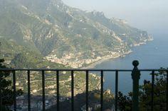 View from Belvedere Principessa di Piemonte, Ravello. Amalfi Coast.