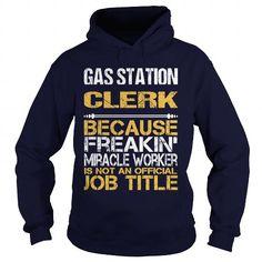 GAS STATION CLERK - FREAKIN #hoodie #T-Shirts. BEST BUY  => https://www.sunfrog.com/LifeStyle/GAS-STATION-CLERK--FREAKIN-Navy-Blue-Hoodie.html?id=60505