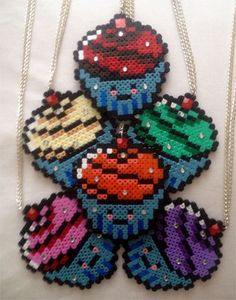 Hama Beads Cupcakes by weloveyoh