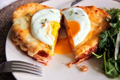 The Owl with the Goblet: Croque Monsieur + Madame Sandwich Jamon Y Queso, Egg And Cheese Sandwich, Bacon Egg And Cheese, Food N, Good Food, Food And Drink, Yummy Food, Breakfast Crepes, Breakfast For Dinner