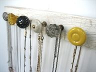 necklace holder. cute alternative to the pins in my wall...