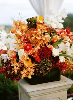 Fall colors - Autumn Wedding Bouquet - Floral Design