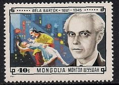 Stamps of Bela Bartok