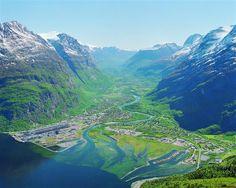 My childhood destination most summers to visit my Bestamor (Grandma).  Sunndalsora, Norway