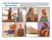 John the Baptist Match Game Jesus Crafts, Bible Crafts, Church Activities, Bible Activities, Sunday School Games, Worship Ideas, Church Nursery, Jean Baptiste, Church Crafts