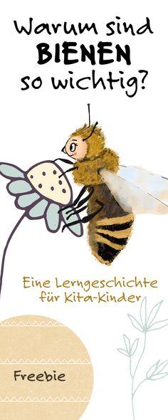 """Warum sind Bienen so wichtig für uns und für die Natur? Wie füttert man geschwächte Hummeln richtig? Prinzessin Blaublüte weiß wie es geht. ;) Eine Lerngeschichte für Kinder in Kita und Kindergarten. Ein Freebie vom Mamablog """"Hallo liebe Wolke""""."""