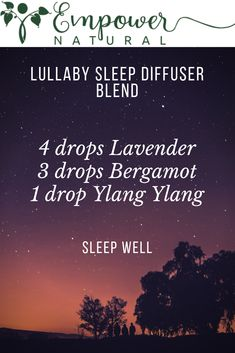 Remember the last time you slept like a baby?  This Lullaby Sleep Diffuser Blend supports a peaceful nights sleep. Lavender. Bergamot. Ylang Ylang.