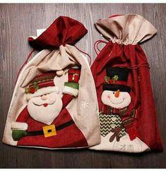 2016 New Year Christmas bag Children Candy Bag Navidad christmas gifts Christmas Bags, Diy Christmas Ornaments, Christmas Wrapping, Christmas Themes, Christmas Stockings, Christmas Crafts, Christmas Decorations, Christmas Applique, Christmas Embroidery