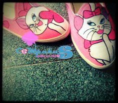 hand-painted shoes Marie cat #SLOP #Pink #Kucing #Catwomen #Vanillasosrt