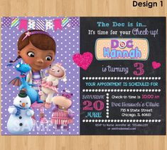 Super easy to download and edit yourself great directions prints tips for choosing doc mcstuffins birthday invitations templates solutioingenieria Gallery