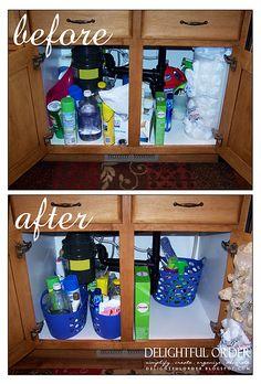 organize under the sink.