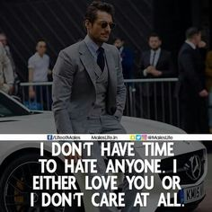 No time to hate