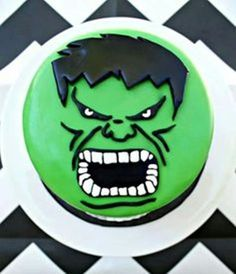 Cake from an Incredible Hulk Themed Birthday Party via Karas
