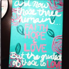 Canvas painting -- ❤