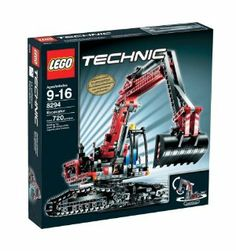 LEGO Technic Excavator by LEGO. $274.99. Working articulated arm with new hydraulic actuator elements. Instructions for rebuilding into a Tracked Dumper are enclosed. Add the motorized power with 8293 Power Functions Motor Set which is sold separately. The rotating cab section can swivel 360-degrees and includes new caterpillar tracks. The LEGO Technic Excavator is loaded with realistic details and working functions. Contains 720 pieces. From the Manufacturer             ...