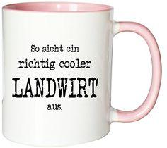 Mister Merchandise Kaffeetasse Becher So sieht ein richtig cooler Landwirt aus. , verschiedene Farben - http://geschirrkaufen.online/mister-merchandise/weiss-rosa-mister-merchandise-kaffeetasse-so-ein-16
