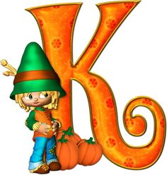 Elfin K Cute Alphabet, Monogram Alphabet, Alphabet And Numbers, Nightmare Before Christmas Musical, Thanksgiving Letter, Scrapbook Letters, Halloween Letters, K Crafts, Ornament Crafts