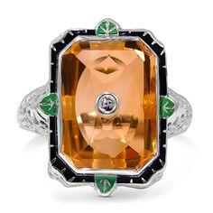 The Basima Ring, 1920s citrine.
