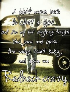 Redneck Crazy by Tyler Farr-love this song! Country Music Quotes, Country Music Lyrics, Country Music Singers, Country Songs, Country Girls, Country Life, Country Living, Country Style, Music Love
