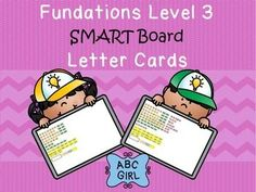 This SMART Board interactive notebook file contains 14 pages of letter card…