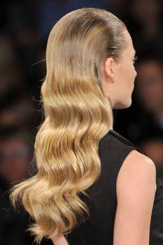 slicked back curls,