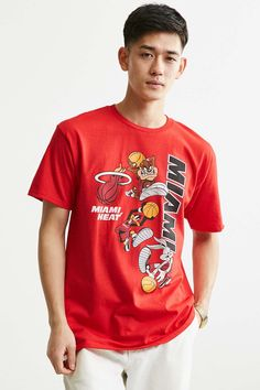 Junk Food Looney Tunes Miami Heat Tee - Urban Outfitters