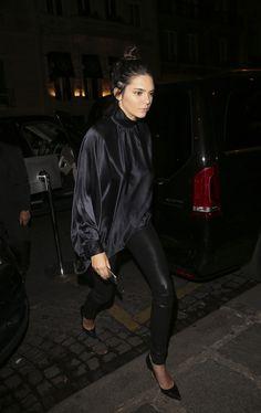 June 26, 2015 - Kendall Jenner arriving at Kinu Restaurant in Paris