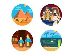 Egypt icons by Kit8 #Design Popular #Dribbble #shots