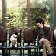 A man's best friend. Jung Yong Hwa of CNBlue for The Suit House.
