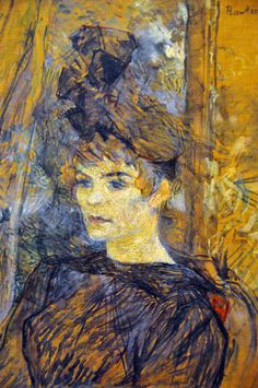 Henri De Toulouse-Lautrec - Portrait of the Painter Suzanne Valadon at Ny Carlsberg Glyptotek   Flickr - Photo Sharing! He bought her the hat and she posed for him.