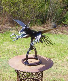 Welded flying things on pinterest metal sculptures bird sculpture