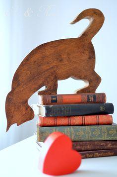 Drewniany kot.