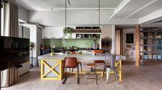 Een eclectische mix van industrieel, vintage en modern interieur in een Taiwanees huis