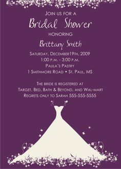 399 best diy party invitation cards images on pinterest invitation bridal shower invitation wording gift cards only stopboris Image collections