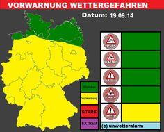 #Gewitter und #Starkregen am Freitag den 19.09.14