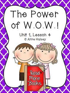 Journeys Fourth Grade The Power of W.O.W.!