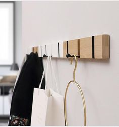 Wood Wall Hanger Coat Hooks Key Hooks Holder Clothes Storage Organizer Metal Hidden Wall Hook for Hanging Clothes Home Decor.