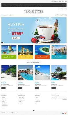 You know design needs time... Get Template Espresso! That's Magento #template // Regular price: $180 // Unique price: $2500 // Sources available: .PSD, .XML, .PHTML, .CSS #Travel #Magento #Responsive  #Store
