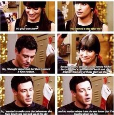 OMG! This quote is so perfect for glee right now! I miss him so much! ❤️Finn&Rachel