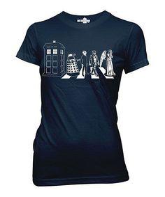 Azure Doctor Who Street Crossing Tee - Women