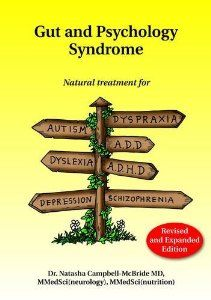 Gut and Psychology Syndrome: Natural Treatment for Autism, Dyspraxia, A.D.D., Dyslexia, A.D.H.D., Depression, Schizophrenia [Paperback]  Natasha Campbell-McBride (Author)