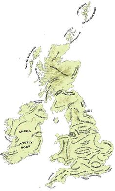 The Definitive Stereotype Map Of Britain And Ireland