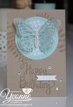 ......Yvonne is Stampin' & Scrapping.....: Challenges Donderdag - SU - Stylized Birthday, Butterfly Basics