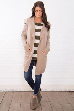 5ab52cd618fae Talk To Me Ribbed Knitted Cardigan In Oatmeal Filly Flair, Cute Cardigans,  Shop Now